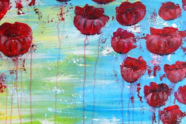 Wasserblüten Blumen Malerei abstrakt Blumenbild Moderne Kunst