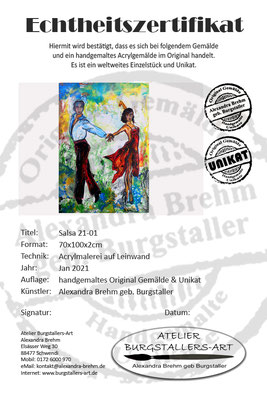 Salsa 21-1 Wandbild Tänzer Tanzbild