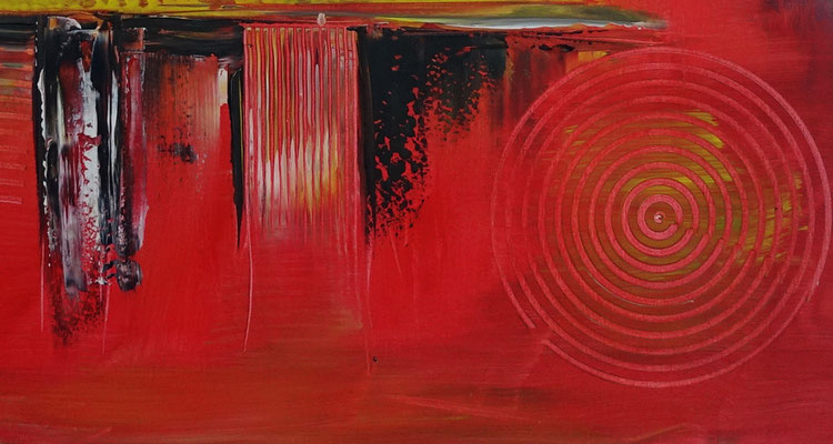 Offspring abstrakte Malerei orange Wandbild Original Gemälde Unikat Kunst