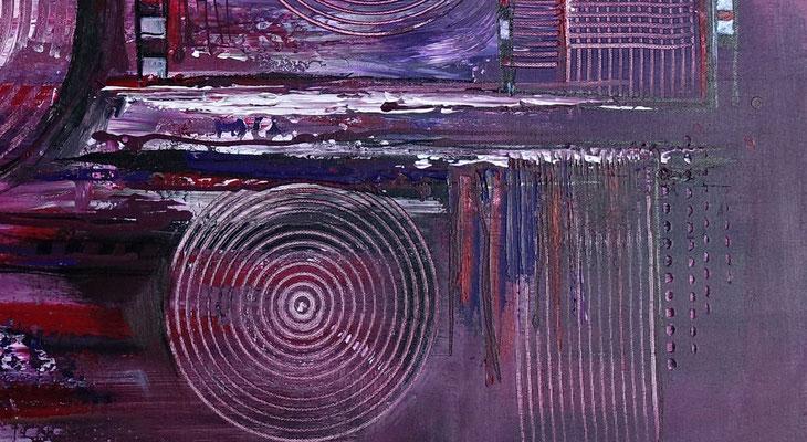 Lila City 3 abstrakte Malerei Wandbild Acrylbild Moderne Kunst Original