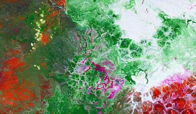 Spektrum Fluid Art abstrakte Kunst Moderne Malerei Original Gemälde Wandbild