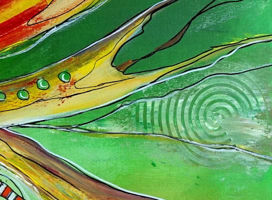 Esprit Moderne Malerei abstrakte Kunst Wandbild Leinwandbild Acrylbild Gemälde