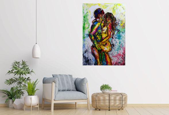 L´Amour Erotische Wandbilder Moderne Aktmalerei Erotik Bilder handgemalt