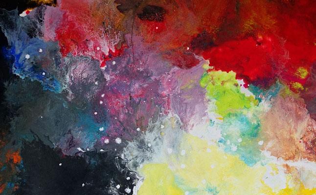 Supernova 2105 abstraktes Wohnzimmerbild Wandbild XXL Bilder BÜro handgemaltes