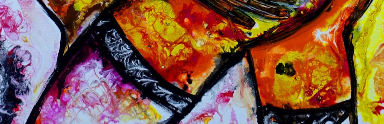 Zärtlichkeiten Erotische Malerei Pouring Acrylbild Gemälde Erotikbild Kunst