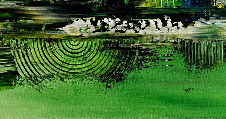 Abstrakte Kunst Bilder Grün Malerei Leinwandbild
