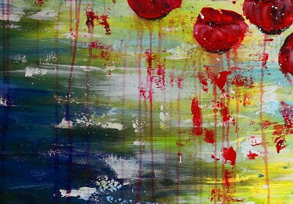 Wasserblüten Blumen Malerei abstrakt Blumenbild Moderne Kunst Blüten