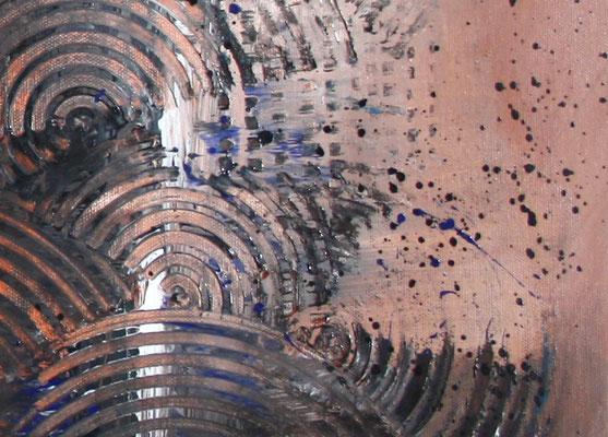 BRAUNE KREISE - Malerei Abstrakt - Original Bild braun ocker