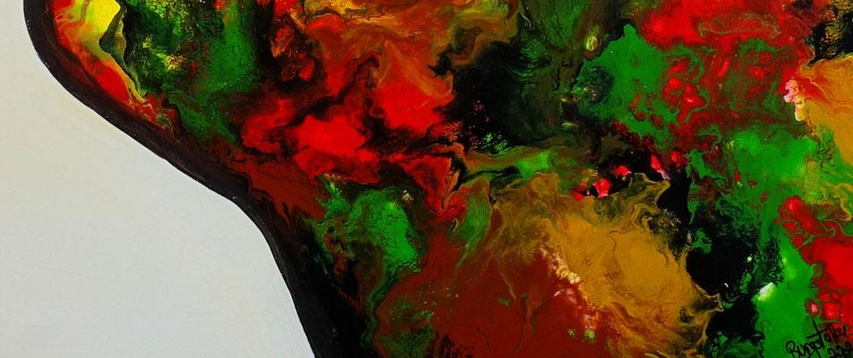Kuss 21-1 abstrakte Malerei Liebesbild Wohnzimmerbild Fiuren Gesichter Kunst
