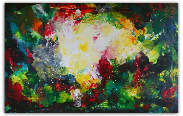 Farbenrausch abstraktes Kunstbild Leinwandbild
