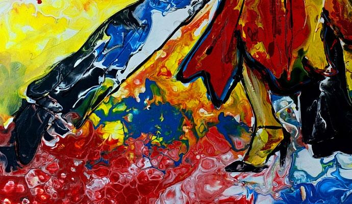 Salsa Tänzer Bild handgemalt - Tanzbild Tanz Kunst Malerei Wandbild Gemälde