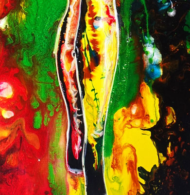 Rückblick erotik Bild Frau nackt nude women painting handgemalt  Acrylbild leinwandbild