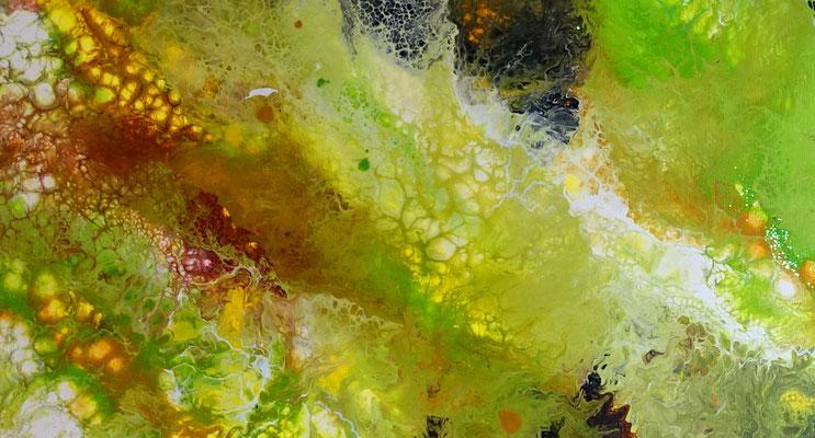 Borneo abstrakte Kunst Malerei Acryl handgemalt Unikat Einzelstück grün