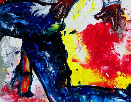 Merengue Tanzpaar Tänzerbilder Tänzer Gemälde Malerei Studio Fluid Art Leinwand
