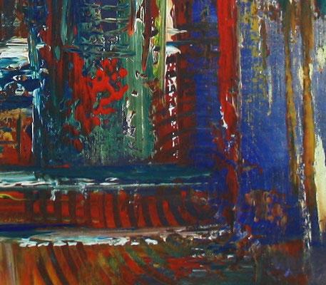 Irland - bunte Kreise Malerei Abstrakt - Künstler Bild in blau rot gelb