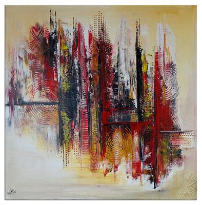 Feuerfront abstrakte Kunst Malerei Modernes