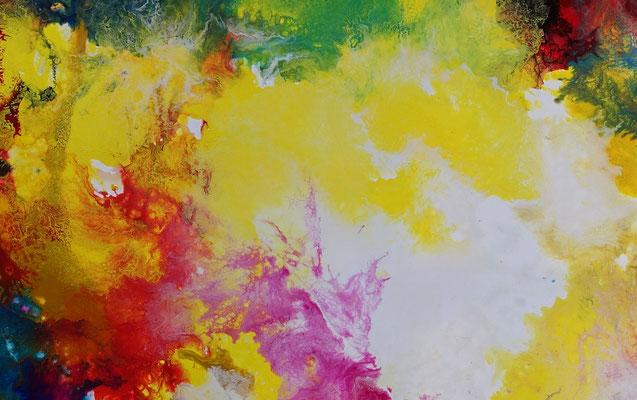 Supernova 5 Abstrakte Kunst Malerei Wandbild abstrakt
