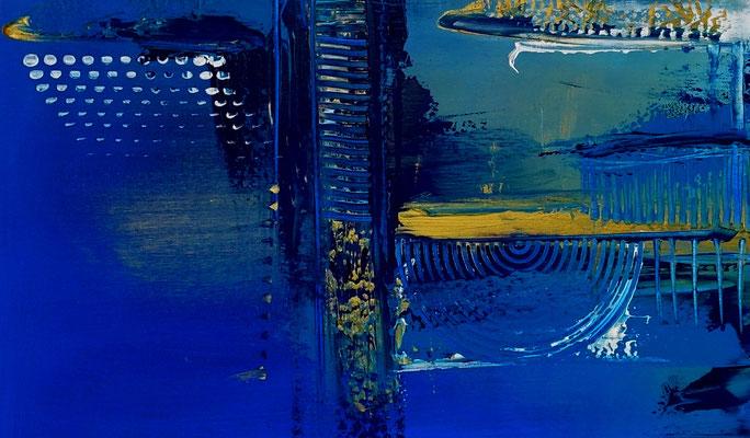 blau abstrakte Malerei Kunst Bild Original Künstler Bild