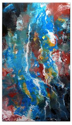 Amazonas abstraktes Leinwandbild Kunst Bild handgemalt Modern Acryl Gemälde Unikat