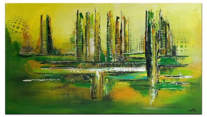 Grüne Lunge abstraktes Wandbild