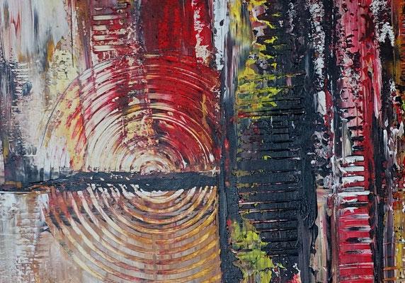 Feuerfront abstrakte Kunst Malerei Modernes Acrylbild