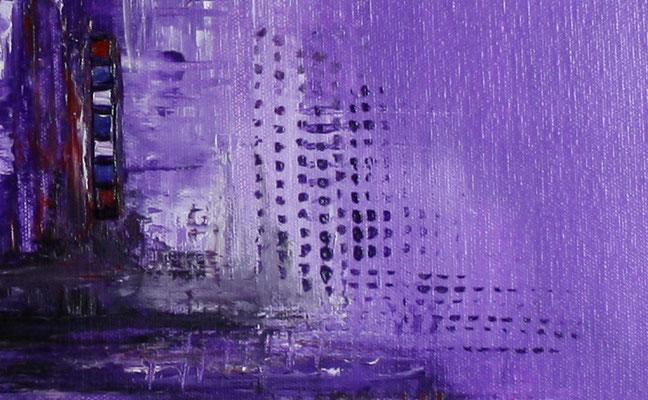 Lila - abstraktes Bild Wandbild handgemalt - abstrakte Kunst günstig