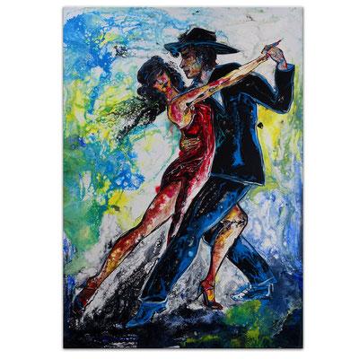 Tango 21-1 Wandbild Tänzer Tanzbild Tanzpaar