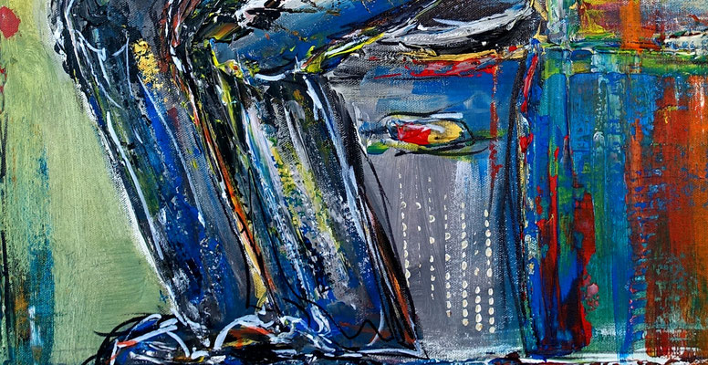 Musiker Gemälde Saxophon Malerei Acrylbild Original handgemalt 60x80