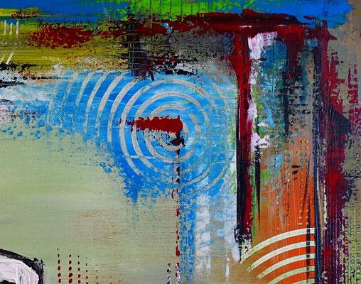 Rotwein Flasche Weingläser Wein abstraktes Gemälde Malerei Kunstbild handgemalt