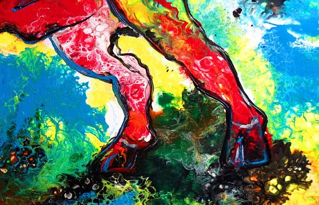 Avispado Wilder Stier Bulle Torro handgemaltes Acrylbild Moderne Tier Malerei
