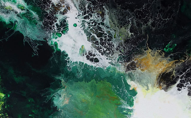 Urwald abstraktes Kunstwerk handgemalt Leinwandbild Acryl Gemälde Unikat