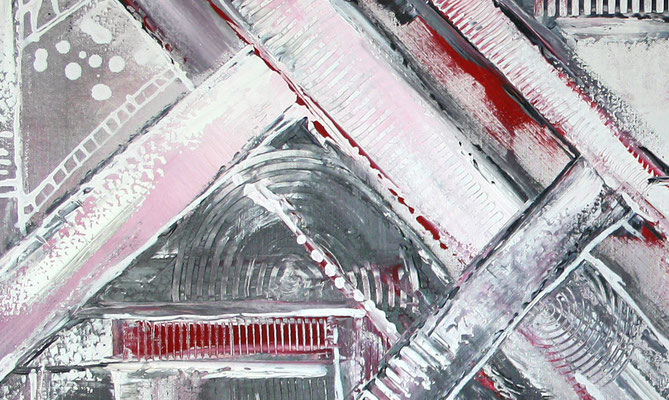 Himmelsleitern XXL rosa abstraktes Bild Gemälde handgemalt Kunst