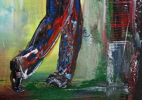 Golfer Abschlag Golfbilder Golfspieler Wandbild Acrylbild Modernes Gemälde Kunst