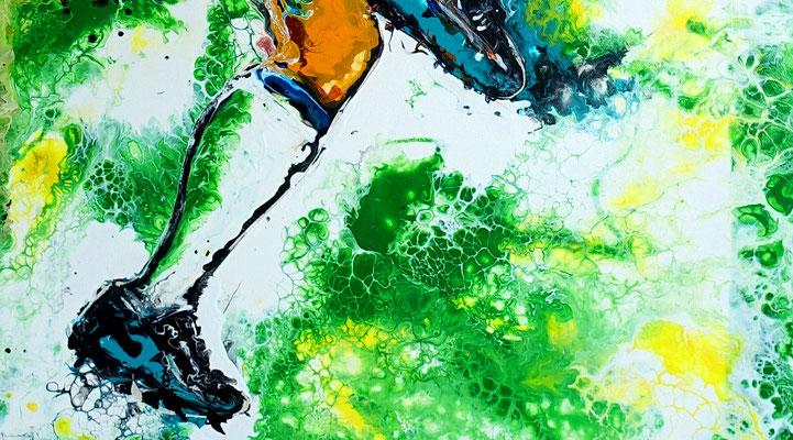 Fußball Knie Dribbeln abstrakte Sport Malerei Gemälde Kunst Bild