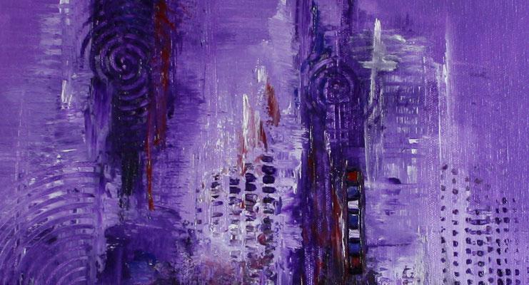 Lila - abstraktes Bild Wandbild handgemalt - abstraktes Gemälde günstig