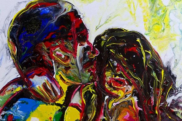L´Amour Erotische Wandbilder Moderne Aktmalerei Erotik Bilder