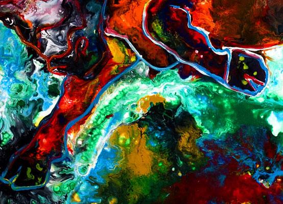 Veneno Wilder Stier abstrakt Torro Bulle Wandbilder moderne Tier Gemälde