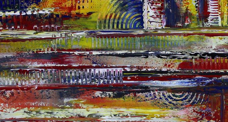 Timbuktu XXL gelb abstrakte kunst malerei bild gemälde