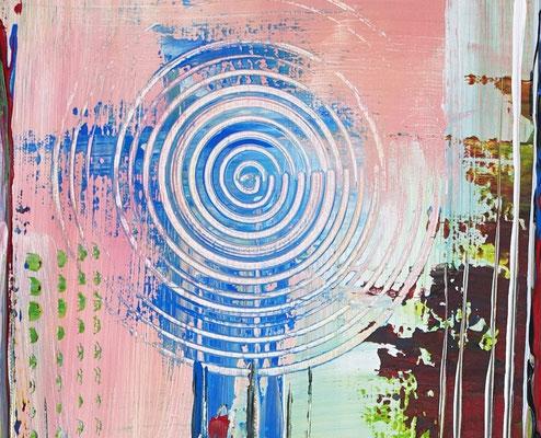 Confused bunt pastell abstrakt acrylbilder kunst bilder grün blau aus
