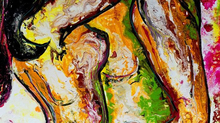 Begierde Erotik Bild Liebespaar Erotisches Gemälde Malerei Kunst Bild