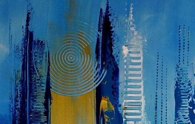 Tiefenrausch blau abstrakte Malerei Kunst Bild Original Künstler Bild
