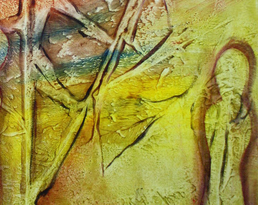 Figuren im Wald - abstrakt