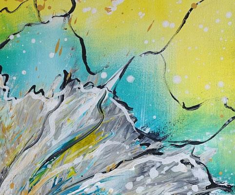 Flugsamen 80x80 blumenbild margerite blumen gemälde malerei abstrakt weiß
