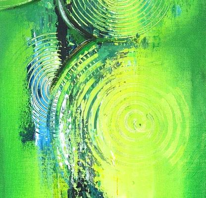 Wandbilder grün abstraktes Acrylgemälde zweiteilig hochformat