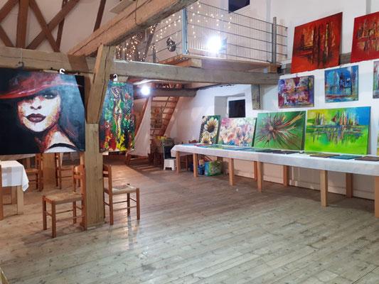 Schlosshofgalerie Schwendi Adventsmarkt Gemälde Ausstellung 2020