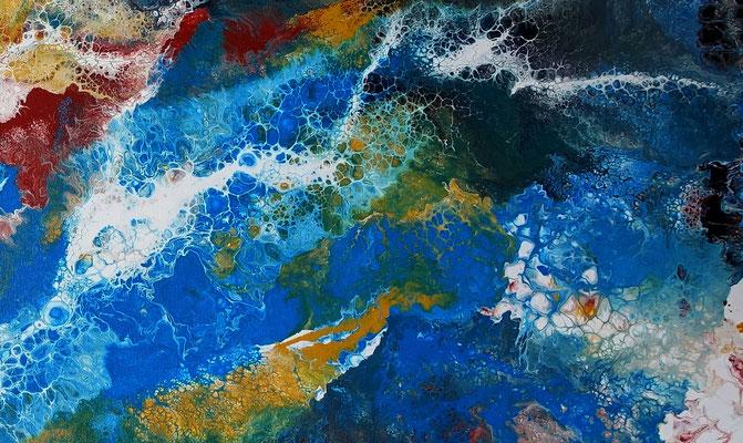 Amazonas abstraktes Leinwandbild Kunst handgemalt Modern Acryl Gemälde Unikat