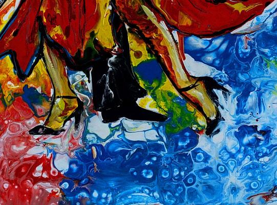 Tango Salsa Tänzer Bild handgemalt - Tanzbild Tanz Kunst Malerei Acrylbild Gemälde