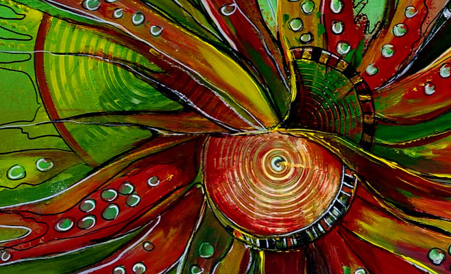 Esprit Moderne Malerei abstrakte Kunst Wandbild handgemalt Acrylbild Gemälde