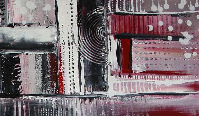 Himmelsleitern XXL rosa abstraktes Bild Gemälde handgemalt