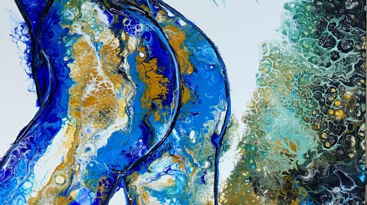 Verführung Abstrakte Erotik Malerei Nackte Frau Erotisches Gemälde 70x100